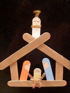 lolly stick nativity