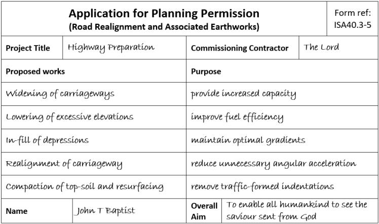 planning application Isa 40