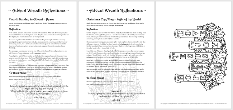 advent wreath reflections preview
